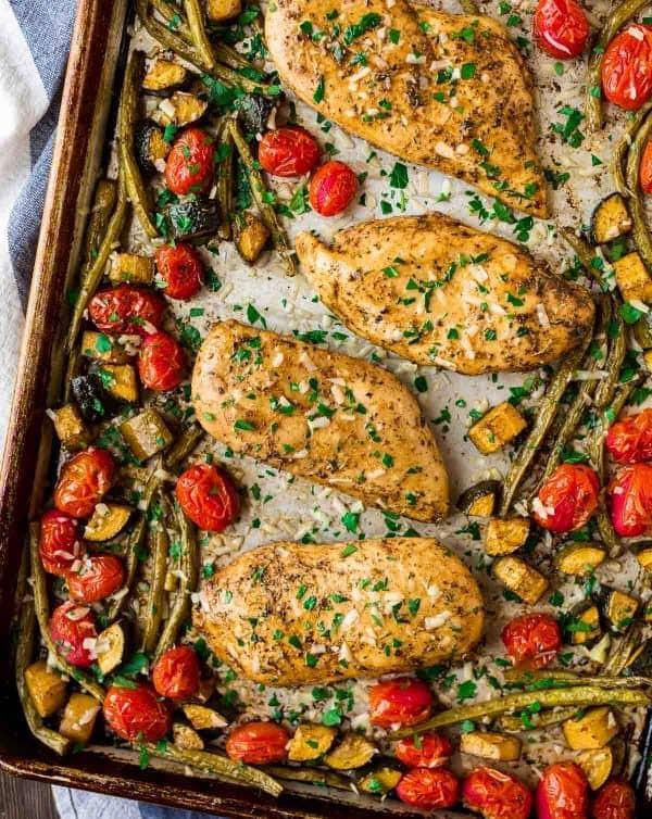 وصفات بالدجاج - طريقة عمل صدور الدجاج بالخضروات على الطريقة الإيطالية