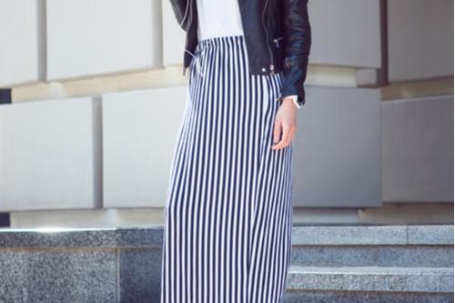 موضة ملابس الشتاء - التنورات الماكسي