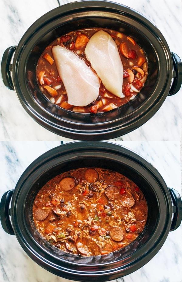 حلة الطهي البطيء - طريقة عمل صدور الدجاج بالسجق