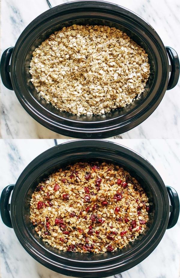 حلة الطهي البطيء - طريقة عمل الشوفان بالفواكه المجففة