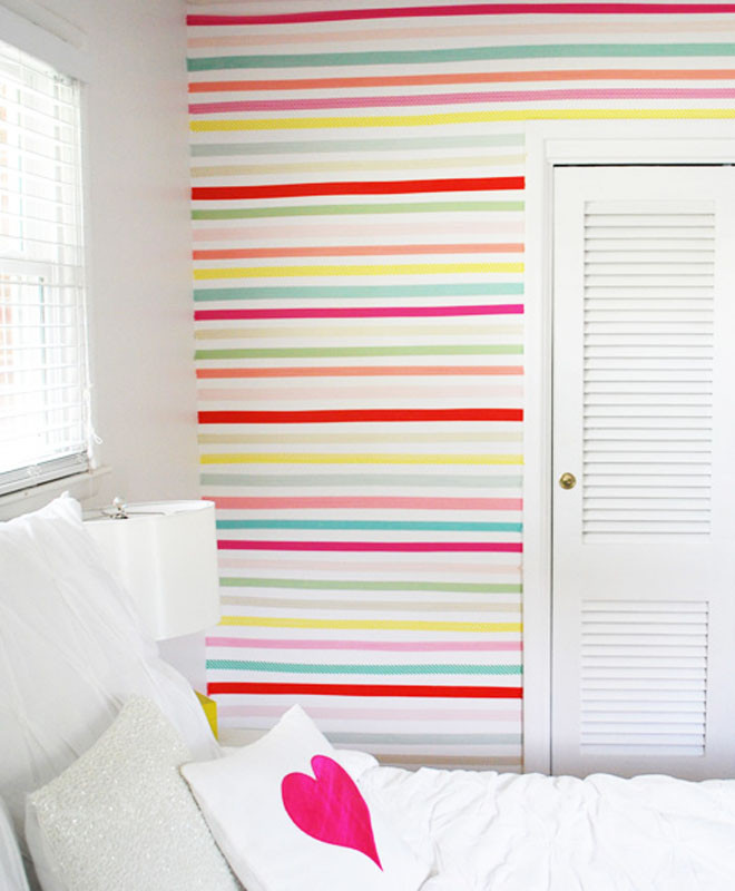 ديكورات الحوائط - الأشرطة اللاصقة الملونة