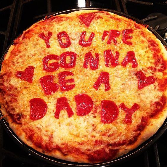 أفكار لتخبري زوجك أنك حامل - بيتزا بالحروف