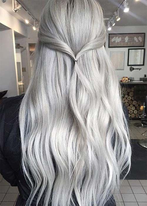 ألوان صبغات الشعر- اللون الأشقر الفضي