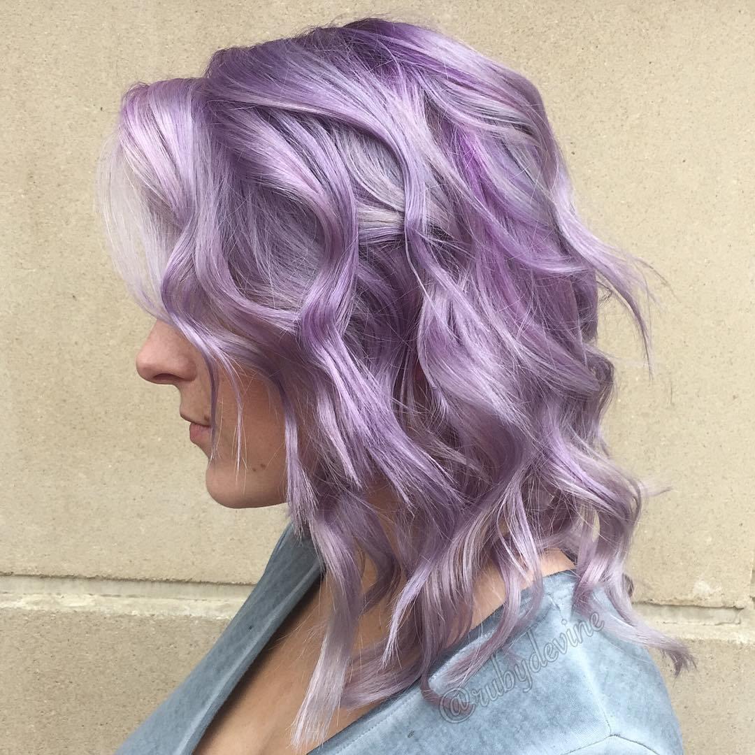 ألوان صبغات الشعر- اللون الليلكي (الأرجواني الفاتح)