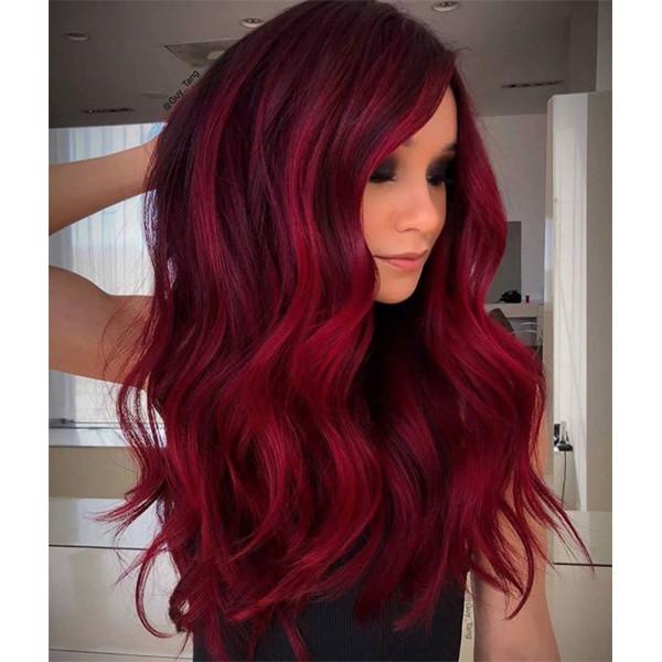 ألوان صبغات الشعر- اللون الأحمر