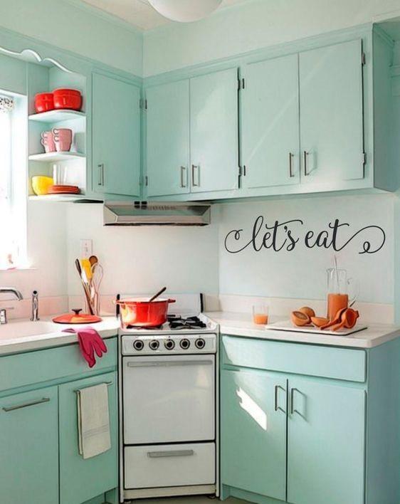 ألوان المطابخ الألوميتال 2020 - مطبخ باستل