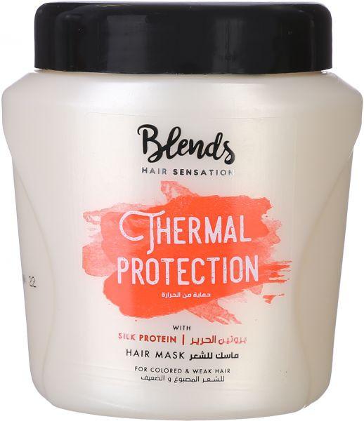 حمام كريم ببروتين الحرير للحماية من الحرارة للشعر المصبوغ والضعيف من بلندز، 400 مل