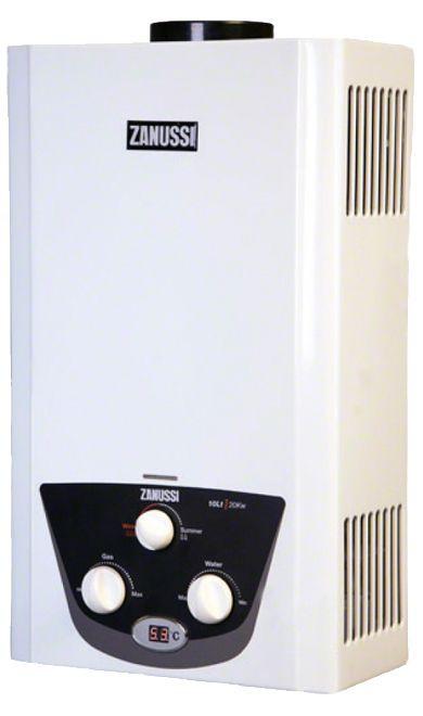 أفضل سخانات الغاز - سخان غاز ديجيتال من زانوسي سعة 10 لترات - أبيض - ZYG10122WB