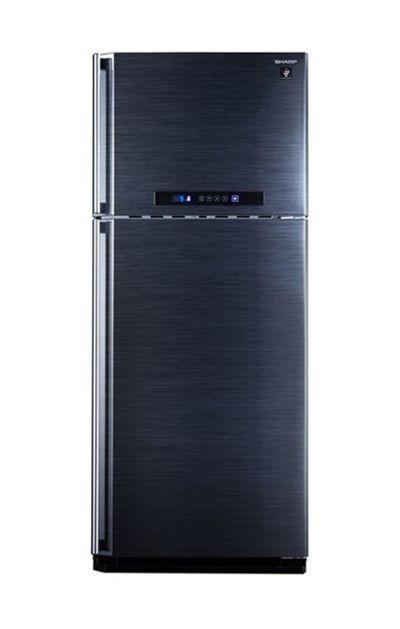 أفضل أنواع الثلاجات - ثلاجة شارب نوفروست ديجيتال بالبلازما كلاستر، 2 باب، سعة 16 قدمًا، اسود - SJ-PC48A(BK)
