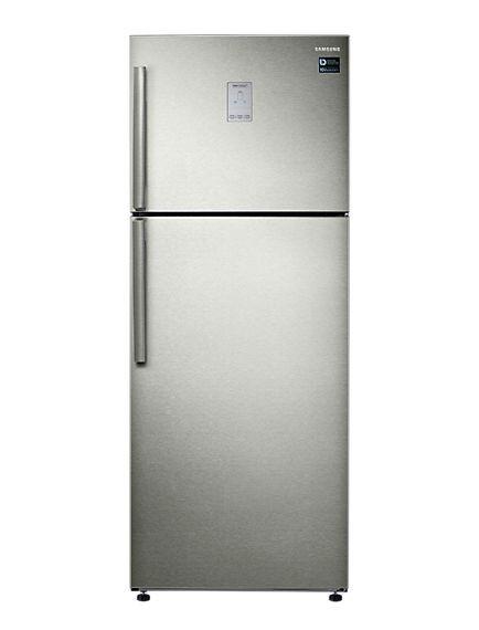 أفضل أنواع الثلاجات - ثلاجة ديجيتال بنظام التبريد المزدوج من سامسونج، 2 باب، سعة 543 لترًا، فضي - RT53K6300S8/MR