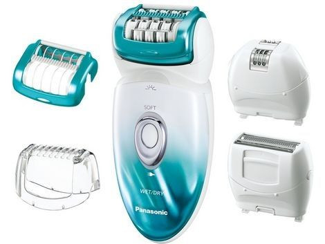 ماكينة ازالة الشعر باناسونيك لاستعمال جاف و مبلل، فيروزي - ES-ED70-P461