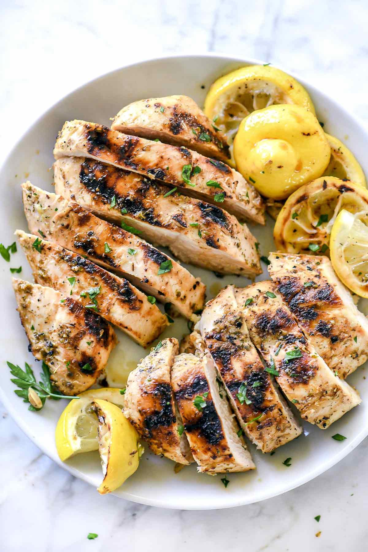 وصفات عشاء للرجيم - - دجاج مشوي بالليمون