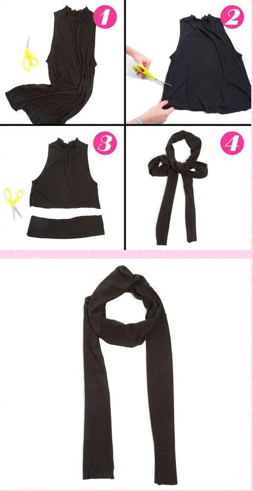 إعادة تدوير الملابس القديمة - تحويل الفستان إلى شال