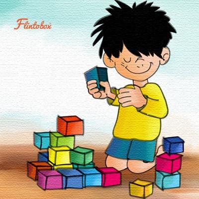 تنمية مهارات الطفل عمر سنتين - لعبة المكعبات لتنمية المهارات