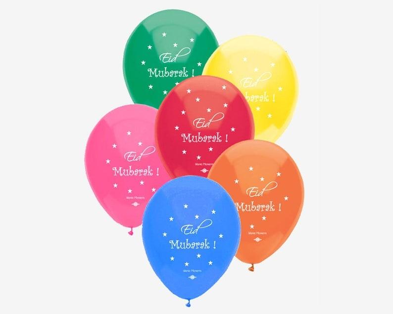 زينة العيد - بالونات ملونة للعيد