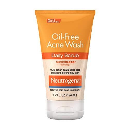 افضل غسول للبشرة المختلطة - غسول البشرة المختلطة بدون زيت من نيتروجينا Neutrogena Oil-Free Acne Face Wash Daily Scrub