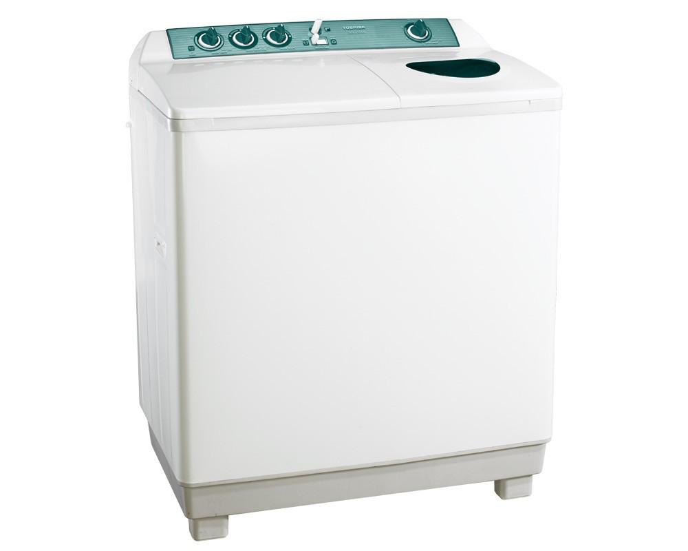 غسالة ملابس توشيبا هاف أوتوماتيك 10 كيلو لون أبيض مزودة بموتورين VH-1000S