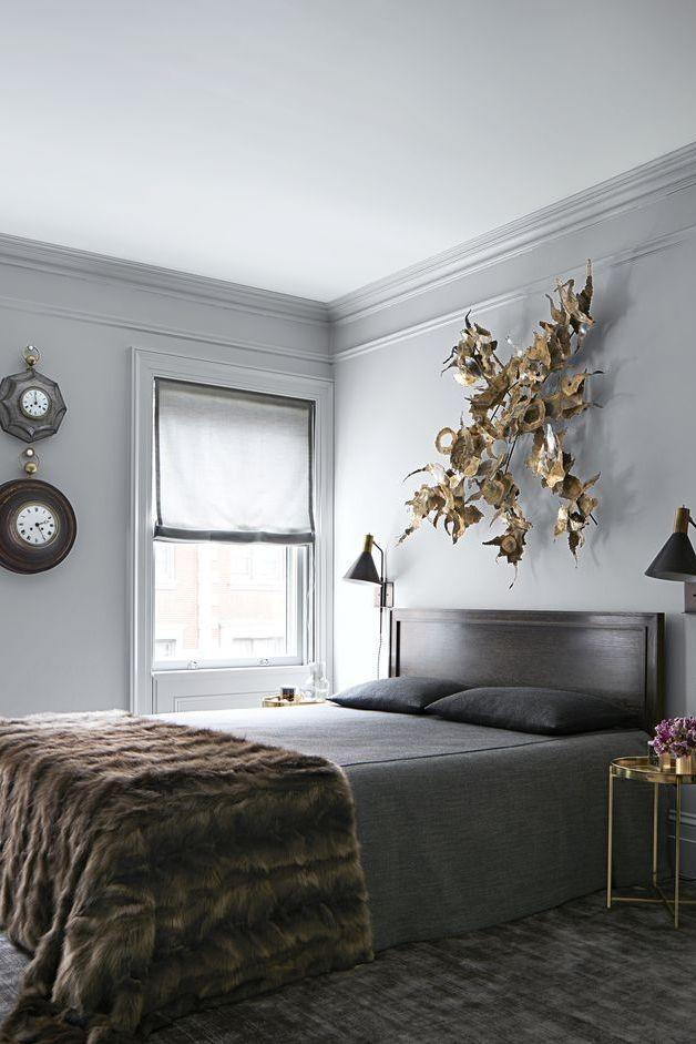 أشكال غرف نوم رمادي