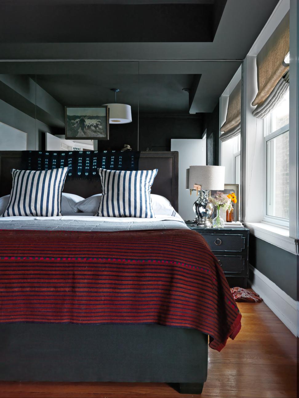 غرف النوم الرمادي