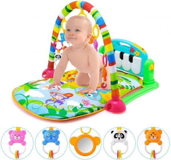 سجادة بيانو للعب الاطفال - مناسبه منذ عمر الولاده وحتى عمر السنه