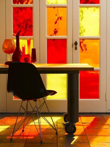 انواع زجاج الشبابيك-زجاج النوافذ الملون