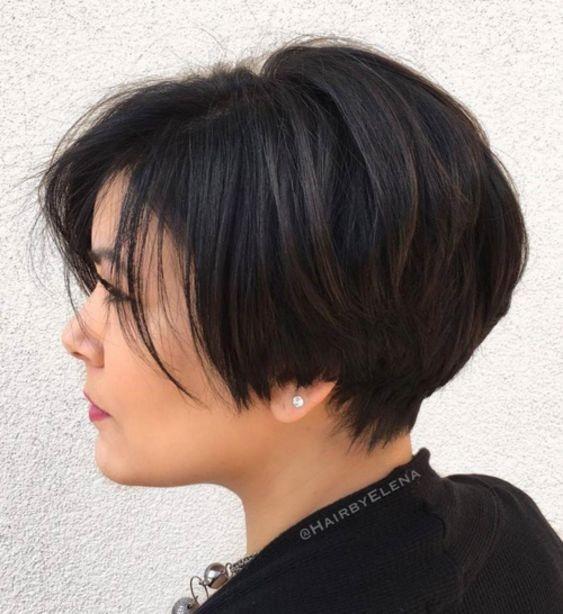 أفضل قصات شعر بوي الكورية لعام 2020- قصات بوي كورية لصاحبات الشعر الكثيف2