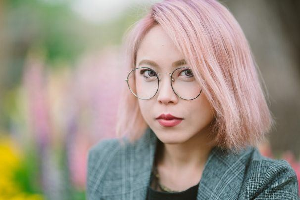قصات غرة كورية - الشعر القصير مع غرة جانبية 1
