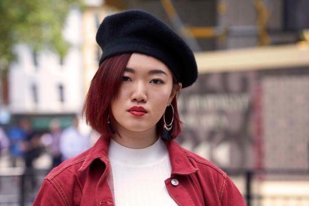 قصات غرة كورية - الشعر القصير مع غرة جانبية 2