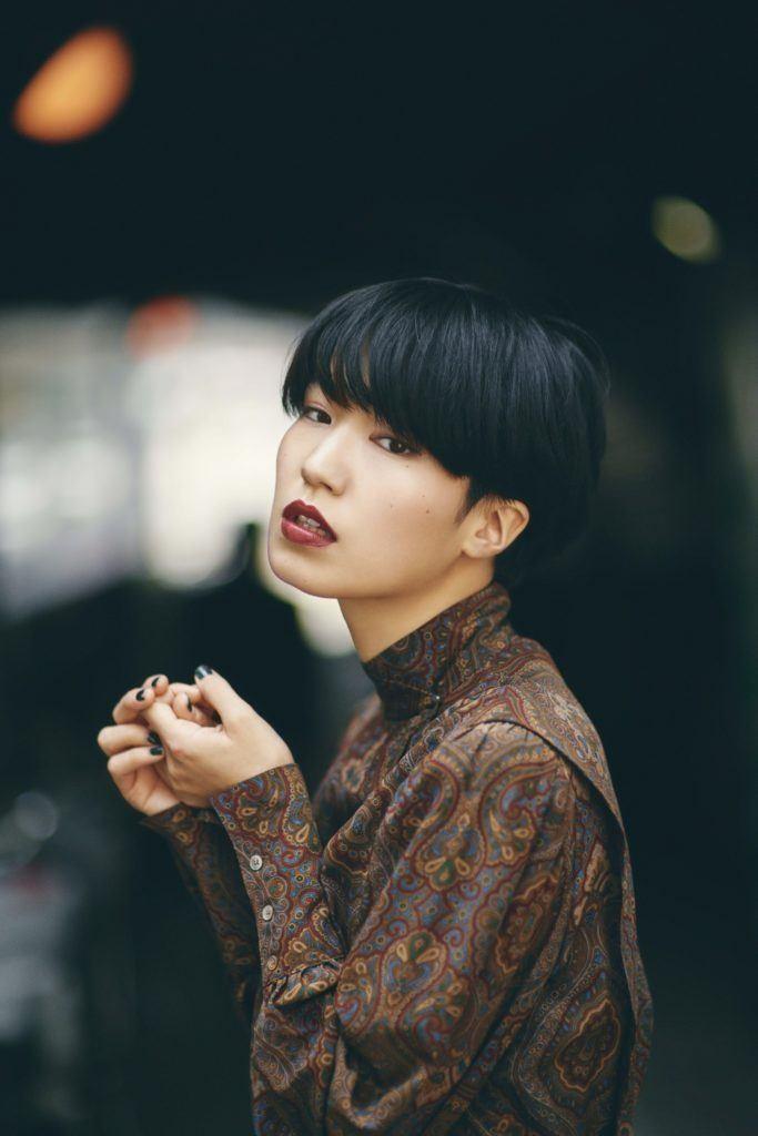 قصات غرة الكورية - الشعر القصير مع غرة متساوية 3