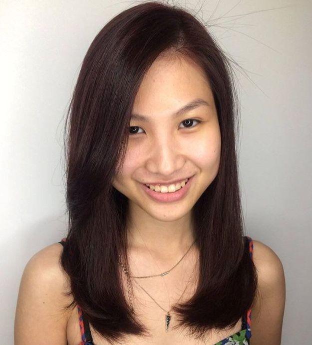 قصات غرة كورية - الشعر الطويل مع الغرة الكورية