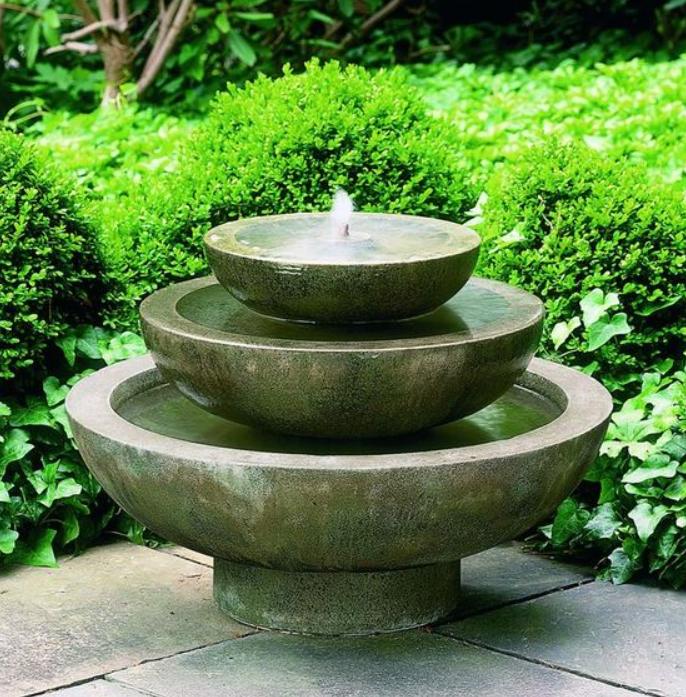 أشكال نافورات منزلية بسيطة - نافورة ماء بسيطة مصنوع من الأحجار
