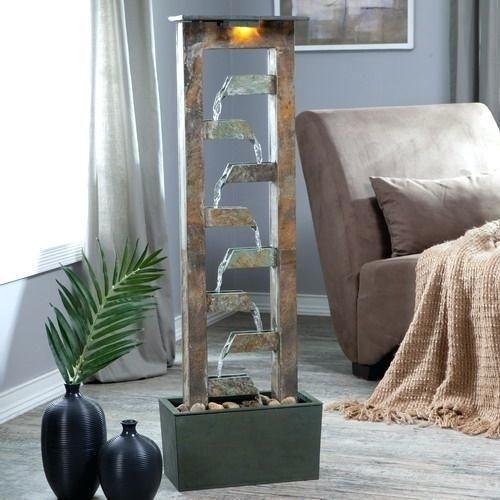 أشكال نافورات منزلية بسيطة - نافورة مياه أنيقة جدًا