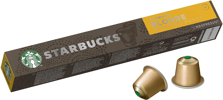 أفضل أنواع كبسولات القهوة- كبسولات قهوة ستاربكس الشقراء نيسبريسو محمص