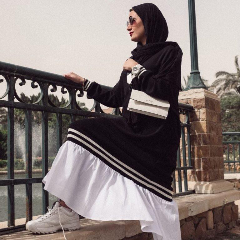 أحدث موديلات ملابس الحمل في جدة والرياض- فساتين محجبات مناسبة للحمل