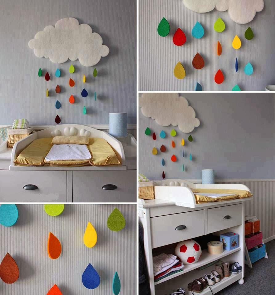 تزيين غرف الأطفال بالأعمال اليدوية - تزيين الجدران ببقايا الأقمشة