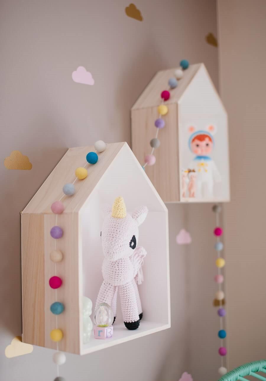 تزيين غرف الأطفال بالأعمال اليدوية - أرفف لغرف الأطفال