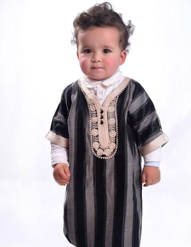 ملابس رمضانية للأطفال 2020- الجلباب المستوحى من القفطان