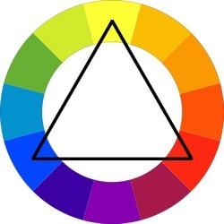 الألوان التي تناسب اللون الأزرق الغامق في الملابس- ثالوث الألوان