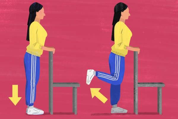 تمارين خشونة الركبة - التمرين الأول ثني الساق