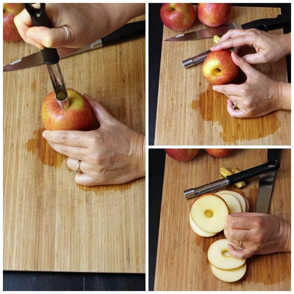 طريقة تقطيع التفاح-الطريقة الثالثة