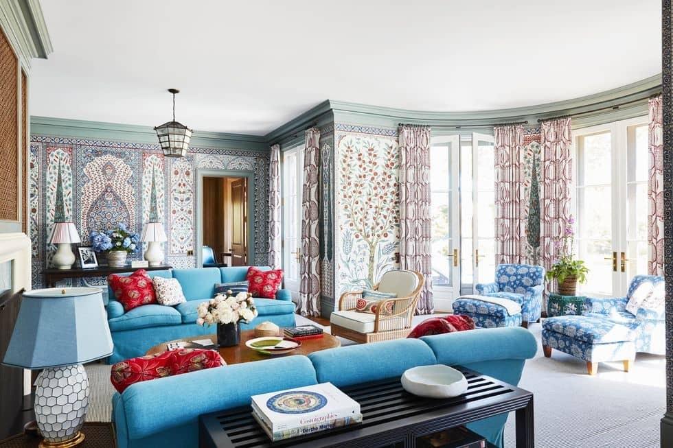 أحدث ألوان الأنتريهات 2020 - اللبني في غرفة المعيشة