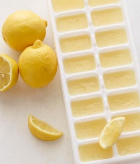 طريقة تخزين الليمون- تجميد عصير الليمون