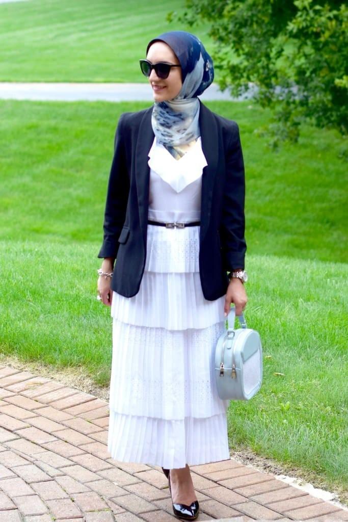 ملابس تناسب الطويلات المحجبات- البليزر