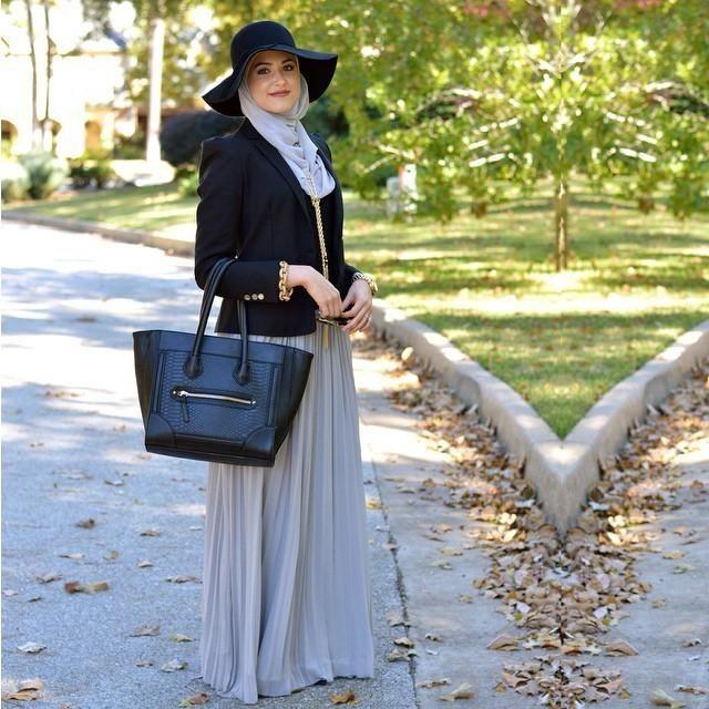 ملابس تناسب الطويلات المحجبات- الجيب البليسيه