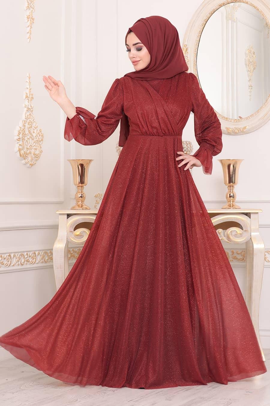 فساتين سواريه للجسم الممتلئ للمحجبات- الفساتين الملفوفة