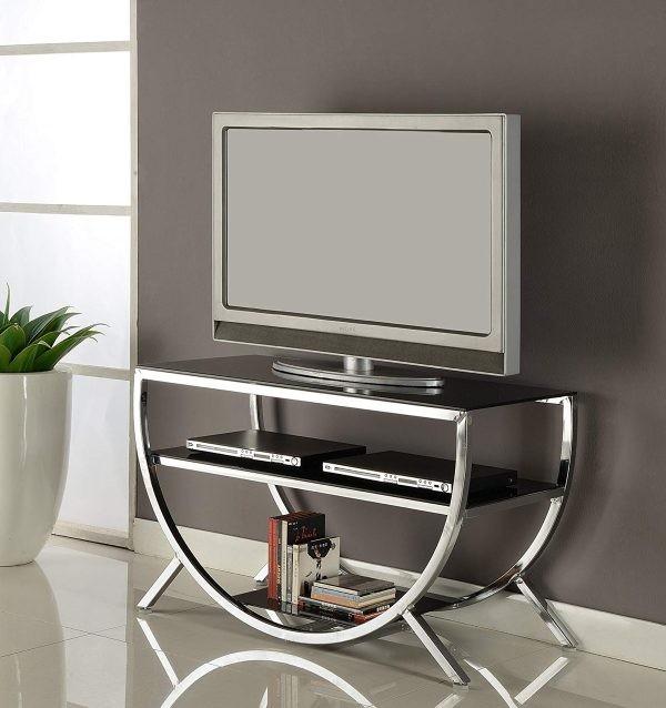 طاولات تلفزيون 2020- طاولة تلفاز بتصميم غير تقليدي
