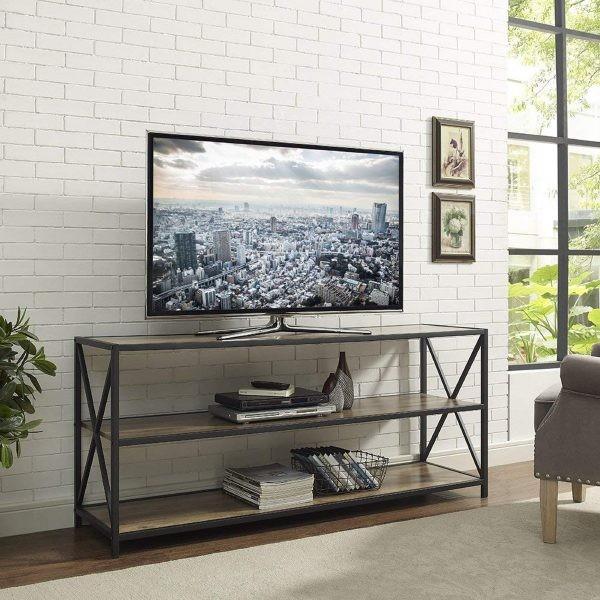 طاولات تلفزيون 2020- طاولة تلفاز بتصميم بسيط