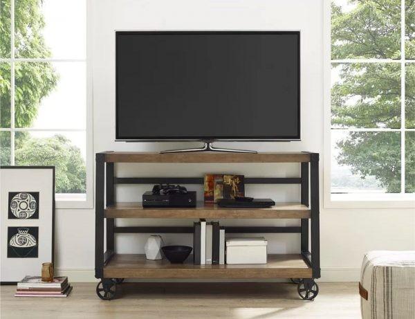 طاولات تلفزيون 2020- طاولة تلفاز بتصميم عملي