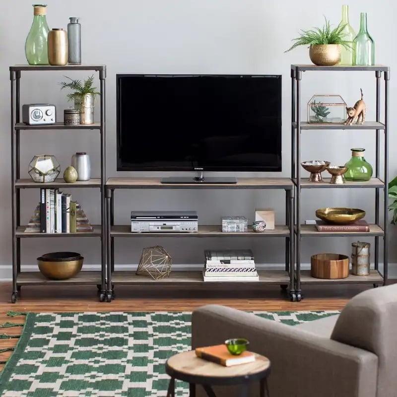 طاولات تلفزيون 2020 - طاولة تلفز متعددة الأرفف