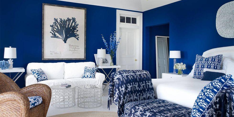 درجات اللون الأزرق في الدهانات- الأزرق الملكي في الحوائط